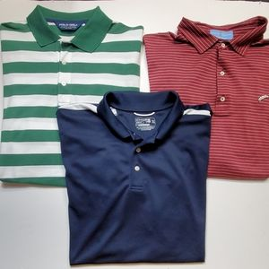 3- mens XL golf shirts